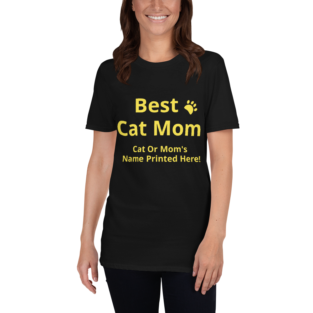 Custom Cat Text T-Shirts Collection